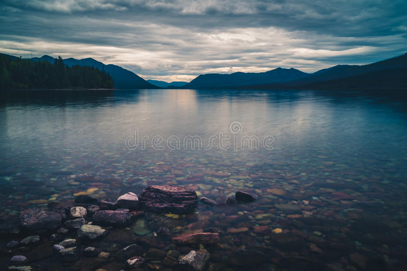 Lago Mcdonald Parque nacional de geleira, Montana, EUA fotos de stock royalty free