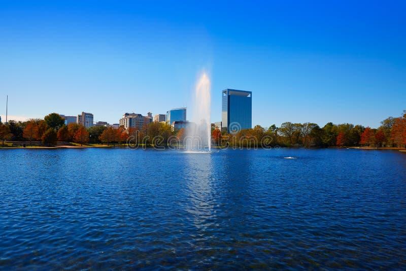 Lago Mcgovern del parco di Houston Hermann immagini stock