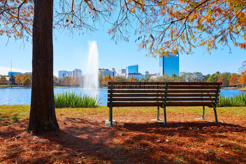 Lago Mcgovern del parque de Houston Hermann imagen de archivo