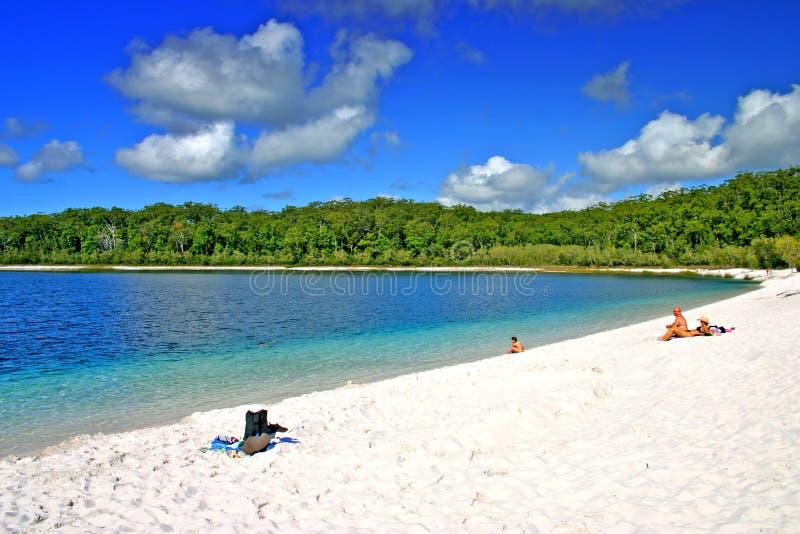 Lago McKenzie, isla de Fraser, Australia imagenes de archivo