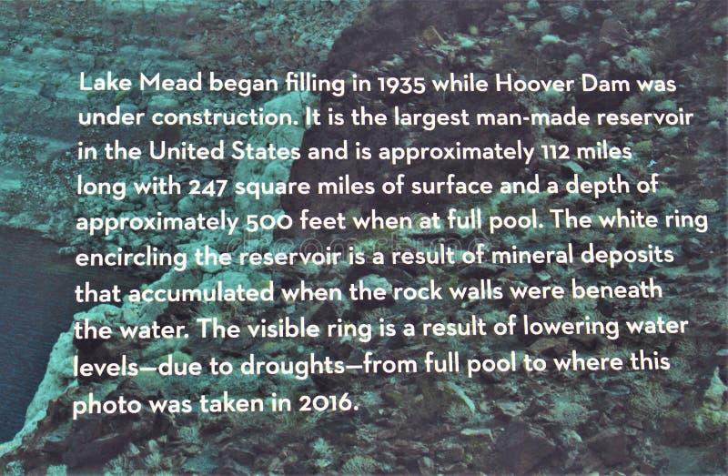 Lago Mead Recreation Area, servizi di parco nazionale, dipartimento dell'interno, Arizona Nevada degli Stati Uniti fotografia stock