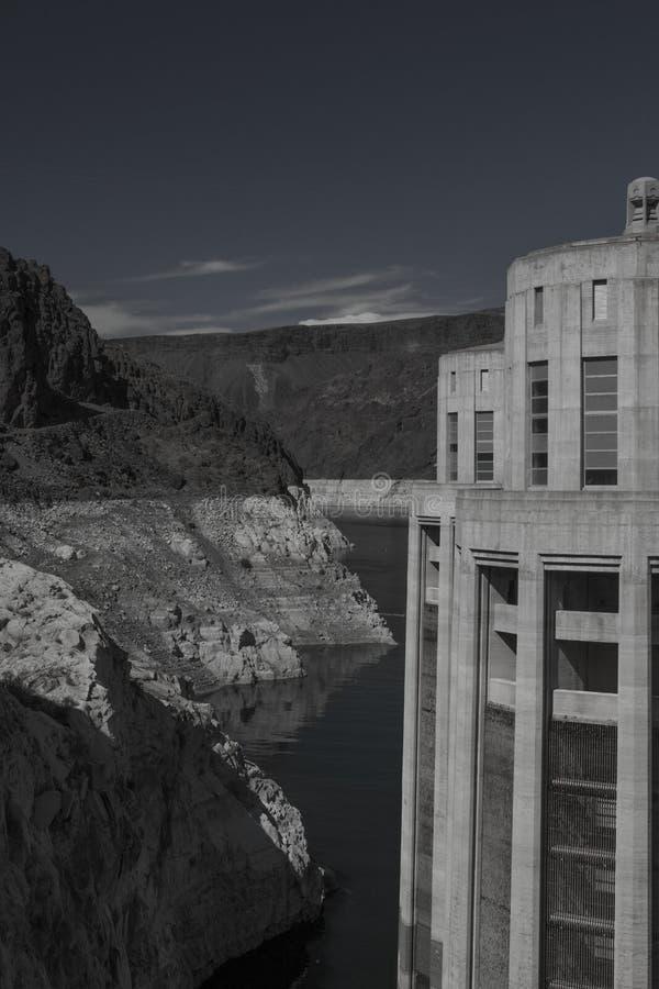 Lago Mead Water Line dam di aspirapolvere fotografia stock