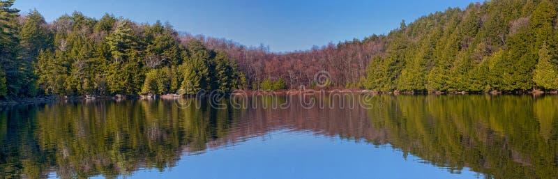 Lago Meech panorâmico imagem de stock royalty free