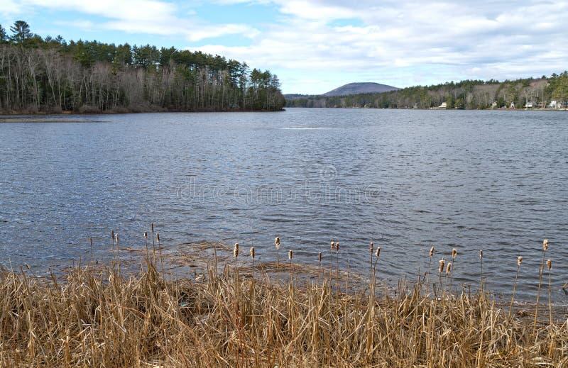 Lago Megunticook no centro Maine de Lincolnville foto de stock