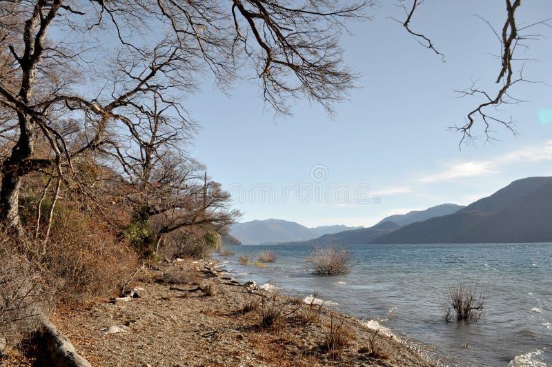Lago Meliquina in San Martin de los le Ande, Argentina fotografia stock libera da diritti