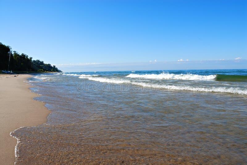 Lago Michigan fotografia stock