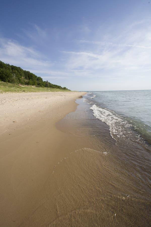 Lago Michigan fotografie stock