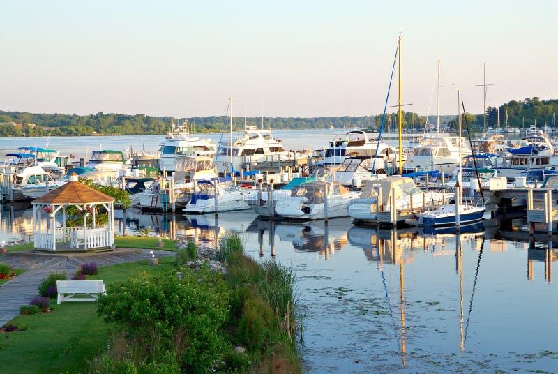 Lago Michigan bianco fotografie stock