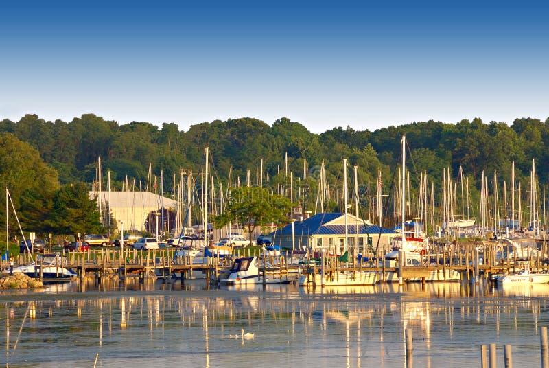 Lago Michigan bianco, S.U.A. fotografia stock libera da diritti