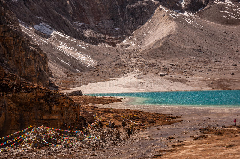 Lago milk, Aden Scenic Area em Szechwan imagens de stock royalty free