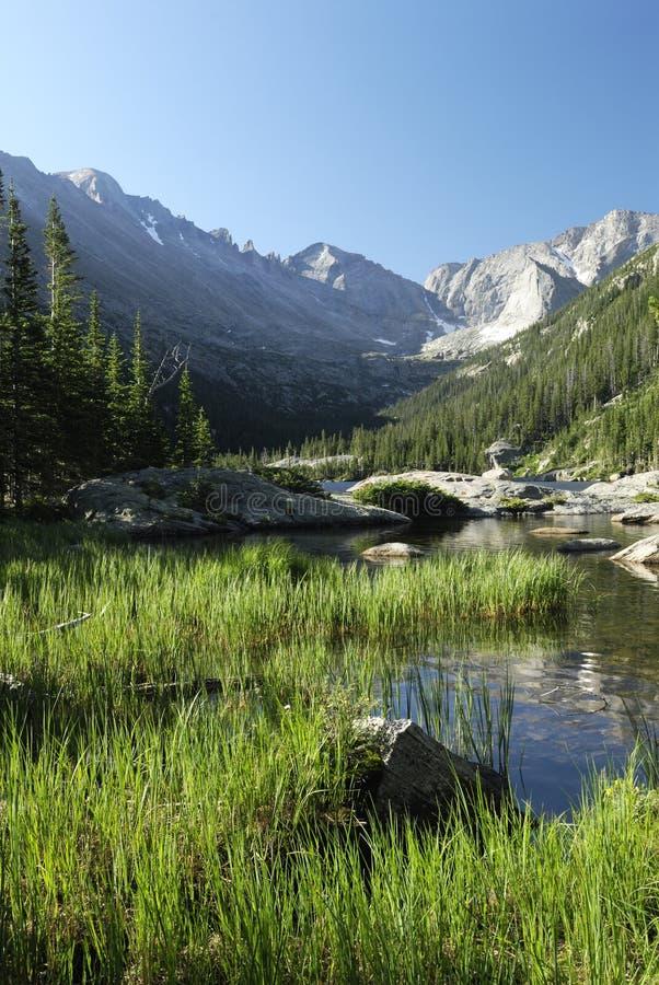 Lago mills in montagne rocciose del Colorado fotografia stock libera da diritti
