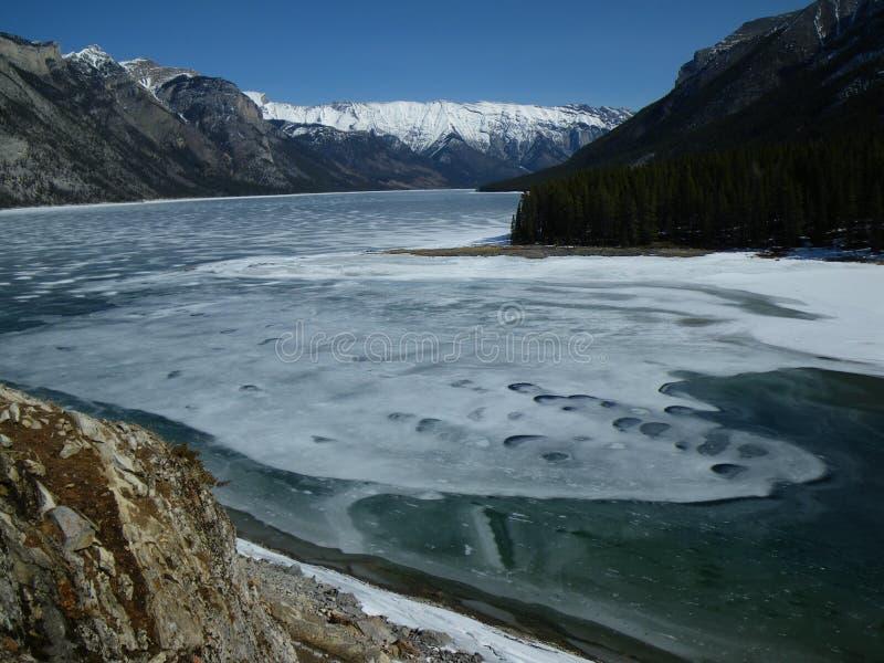 Lago Minewanka fotografie stock libere da diritti