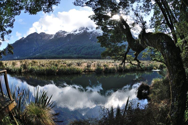 Lago mirror fotografia de stock