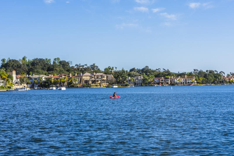 Lago Mission Viejo fotos de archivo
