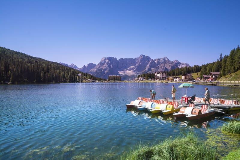 Lago Misurina fotos de archivo libres de regalías