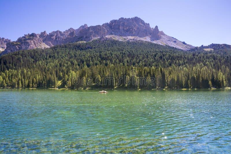 Lago Misurina imagen de archivo