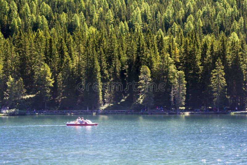 Lago Misurina foto de archivo
