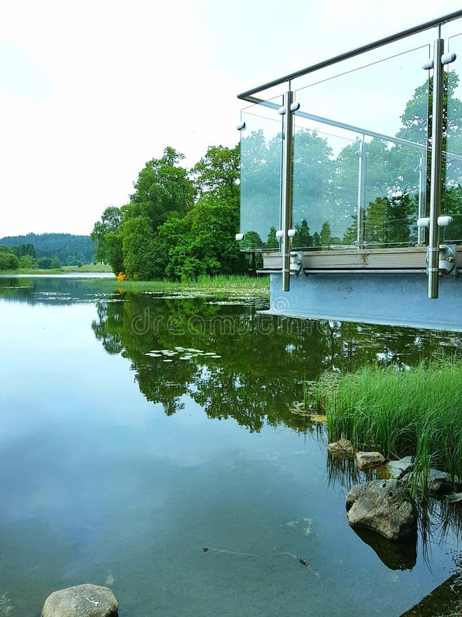 Lago moderno fotografia de stock