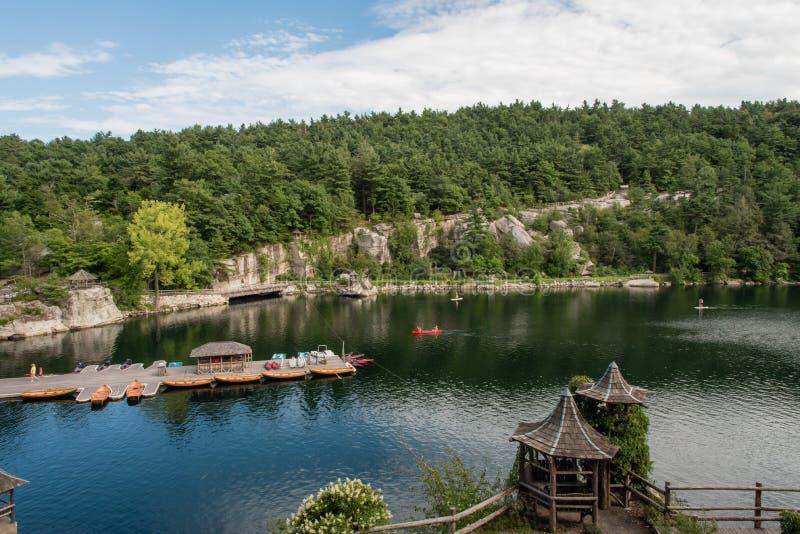 Lago Mohonk en el verano fotos de archivo