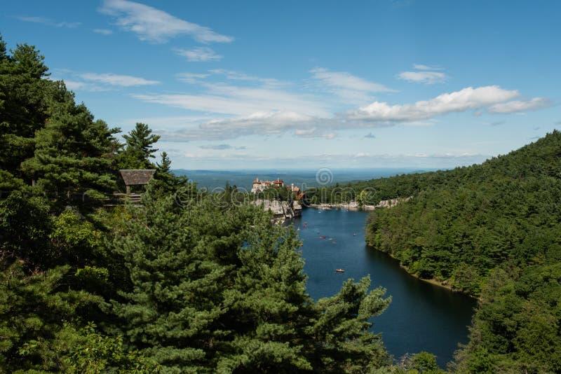 Lago Mohonk en el verano imagen de archivo libre de regalías