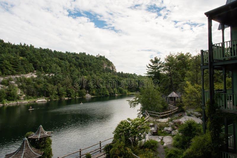 Lago Mohonk en el verano fotografía de archivo libre de regalías