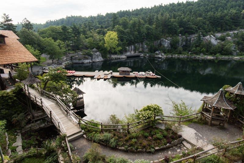 Lago Mohonk en el verano foto de archivo