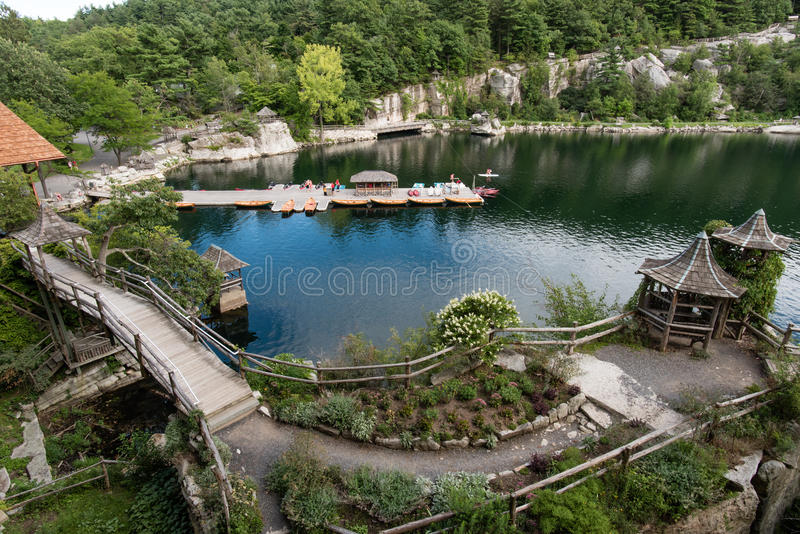 Lago Mohonk en el verano foto de archivo libre de regalías