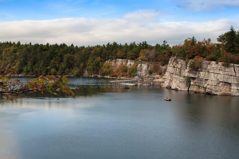 Lago Mohonk, New York fotografie stock libere da diritti