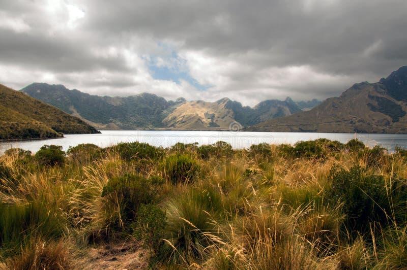 Lago Mojanda imagem de stock