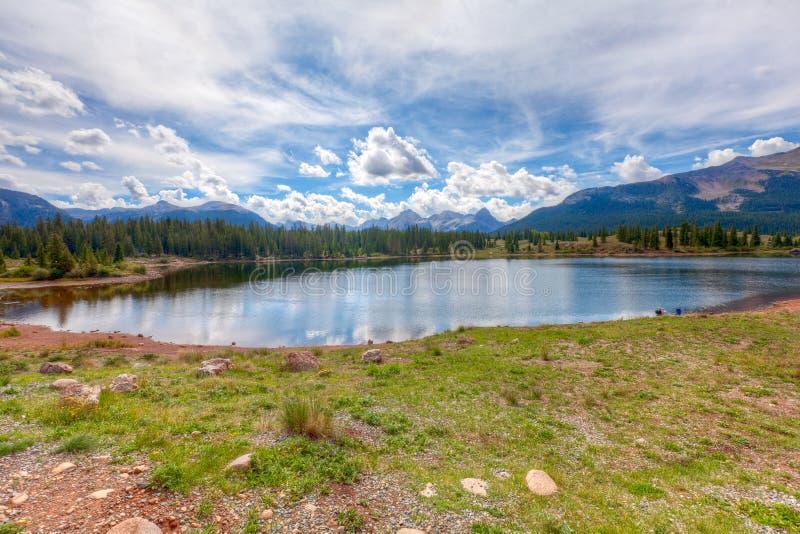 Lago molas al passaggio dei pesci luna, Colorado immagini stock libere da diritti