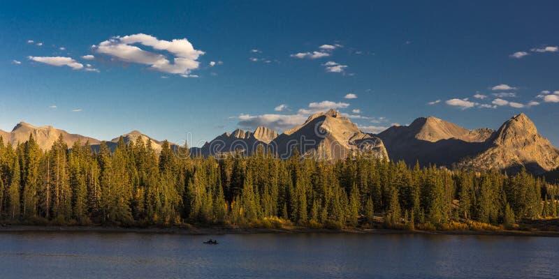 Lago molas, a sud di Silverton, Colorado, radice 550 immagini stock