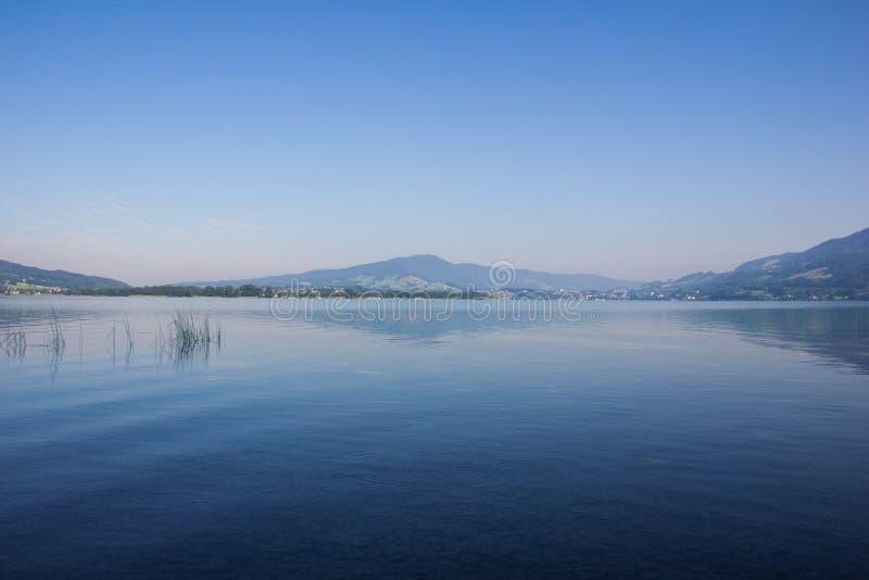 Lago Mondsee arly In The Morning At immagini stock libere da diritti