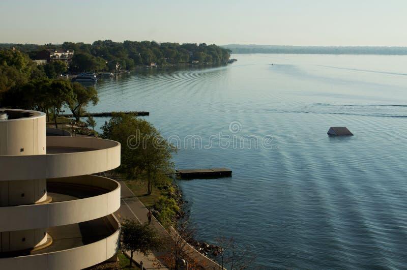 Lago Monona, Madison Wisconsin imágenes de archivo libres de regalías