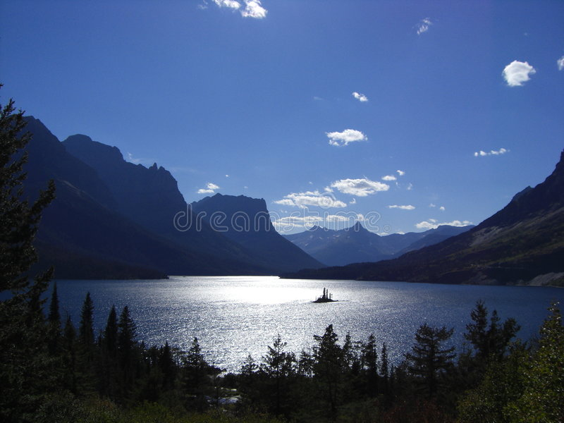 Lago montana fotografie stock