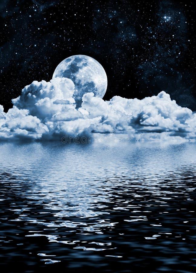Lago moon ilustração royalty free