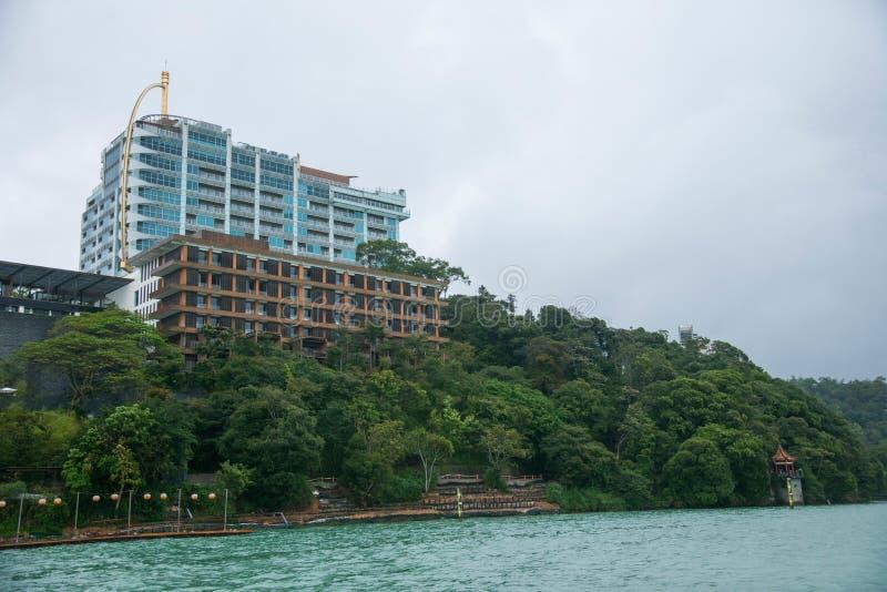 Download Lago Moon De Sun En Paisaje Del Condado De Nantou, Taiwán Imagen de archivo - Imagen de edificios, puerto: 41918767