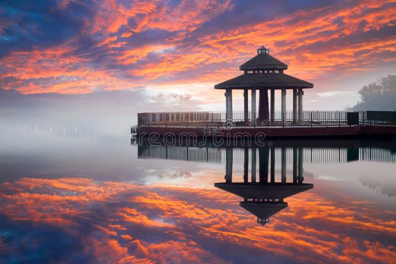 Lago moon de Sun, Nantou, Formosa imagem de stock royalty free
