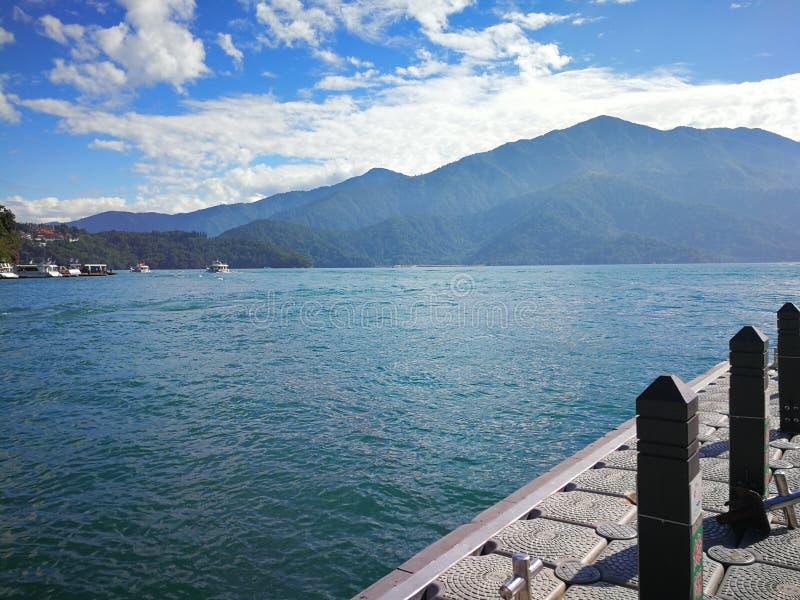 Lago moon di Sun, Taiwan fotografia stock libera da diritti