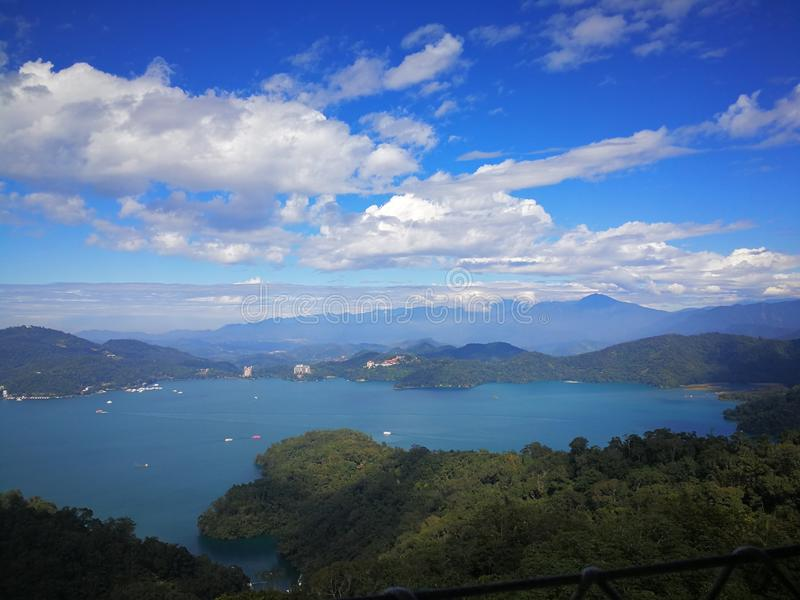 Lago moon di Sun, Taiwan fotografia stock