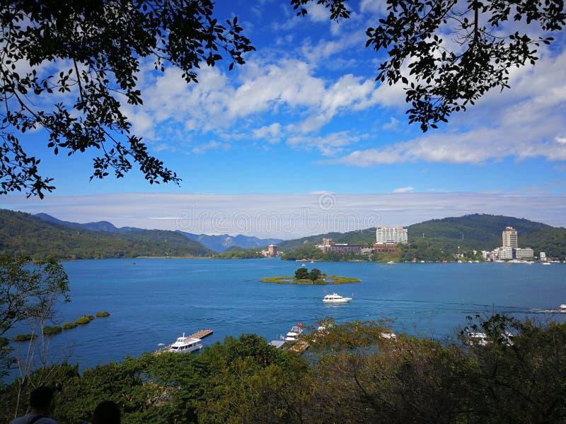Lago moon di Sun, Taiwan fotografie stock