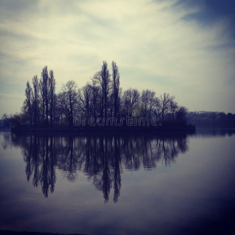 Lago morning fotografia de stock
