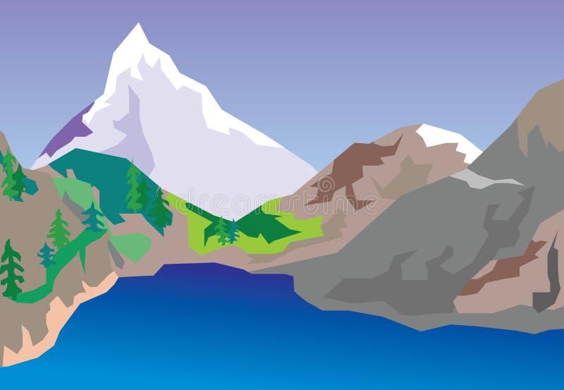 Lago mountain ilustración del vector