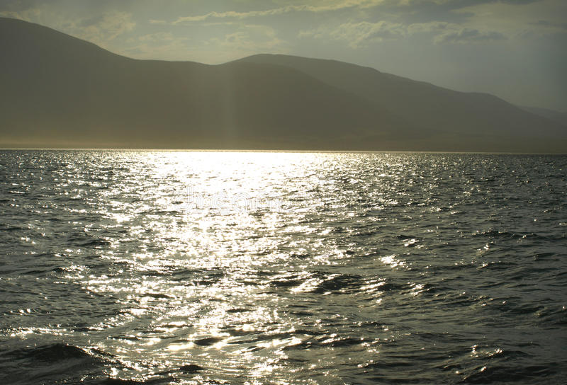 Lago mountain de Chaghytay en Tuva Rusia foto de archivo libre de regalías