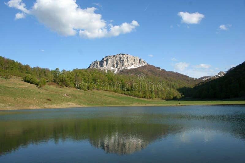 Lago mountain em Bósnia fotografia de stock