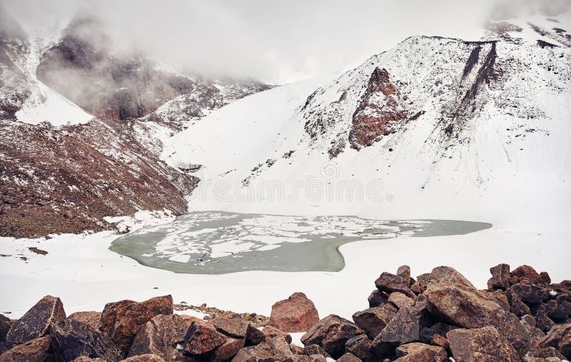 Lago mountain Nevado imagen de archivo libre de regalías