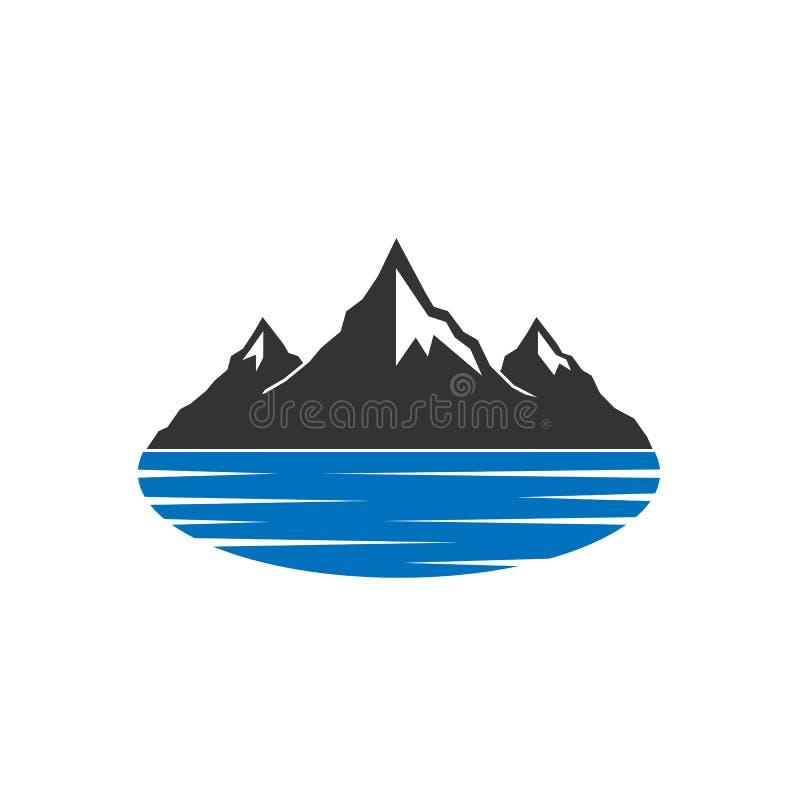 Lago mountains illustrazione vettoriale