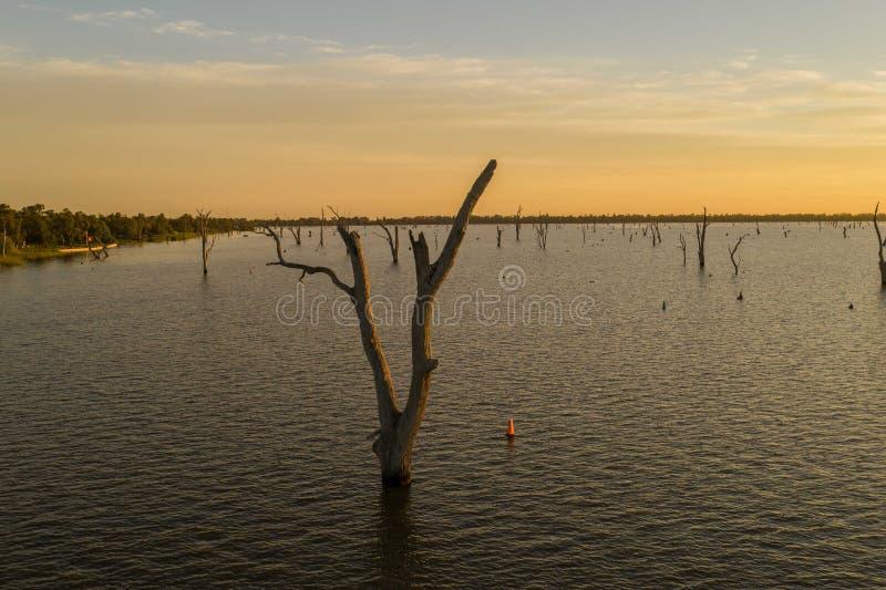 Lago Mulwala Australia fotografie stock