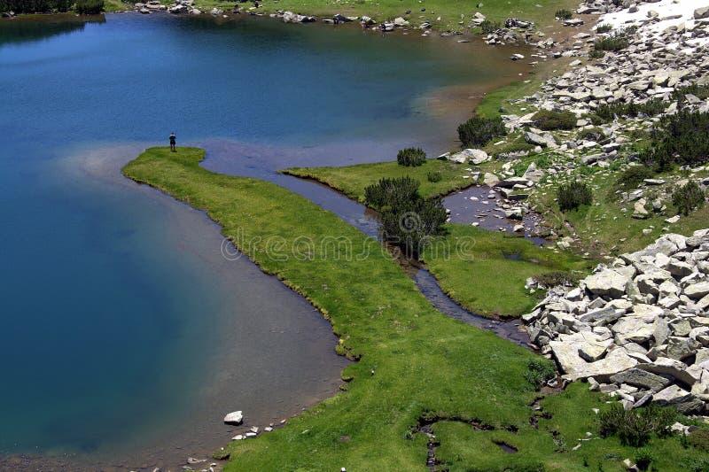 Lago Muratovo, montanha de Pirin, fotografia de stock