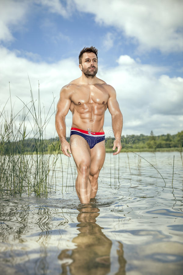 Lago muscular do homem fotografia de stock