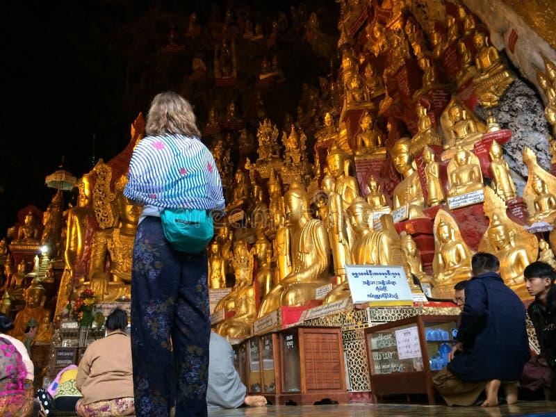 Lago myanmar Inle (Burma) fotografia de stock